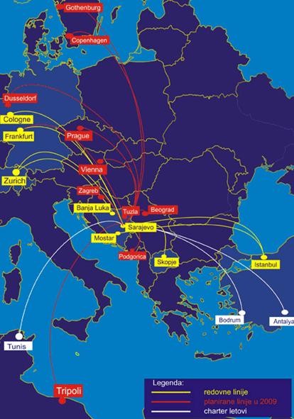 Image: Sarajevo Route Map