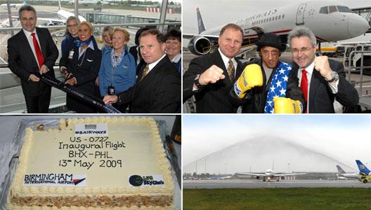 Image: US Airways new route from Philadelphia (PHL) to Birmingham (BHX)