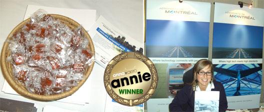 Image: Annie award for Aéroports de Montréal's Maple Candy
