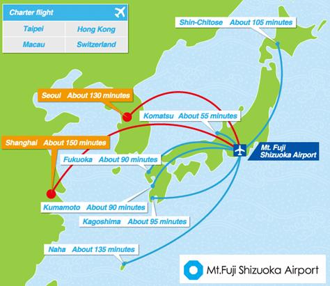 Image: Mount Fuji Shizuoka Airport Routes