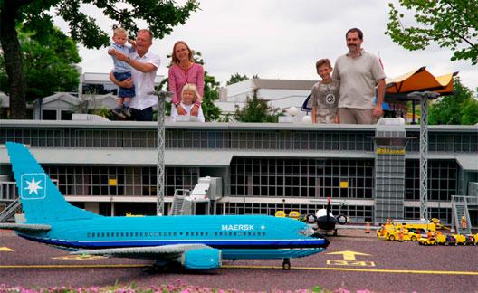 Image: Billund Airport is even modelled in Legoland
