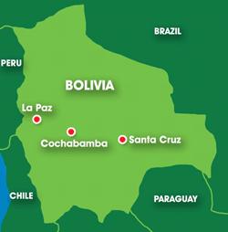 Map: Bolivia