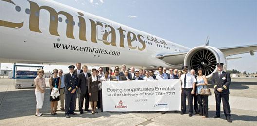 Image: Boeing delivered Emirates' 78th 777 on 29 July