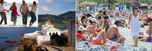 Image: The sleepy Greek Island of Skopelos (a backdrop to Hollywood movie Mamma Mia)