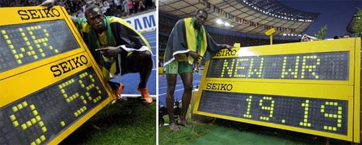 Image: Usain Bolt 200m World Record sprint