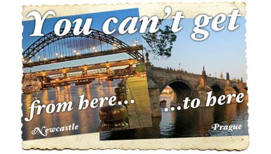 Image: No Newcastle/Prague route