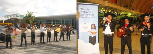 Image: WestJet's Toronto to Cozumel launch