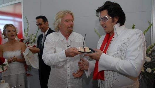 Image: Richard Branson Las Vegas Elvis