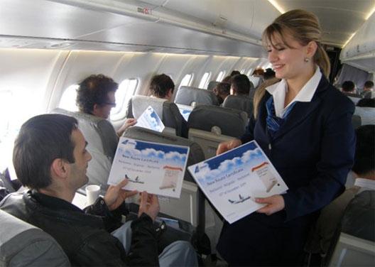 Image: Tarom stewardess