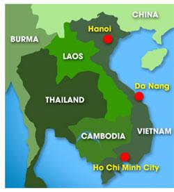 Map: Vietnam map