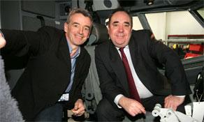 London-Edinburgh/Glasgow traffic still in decline; British Airways, bmi and easyJet battle it out while Flybe looks on