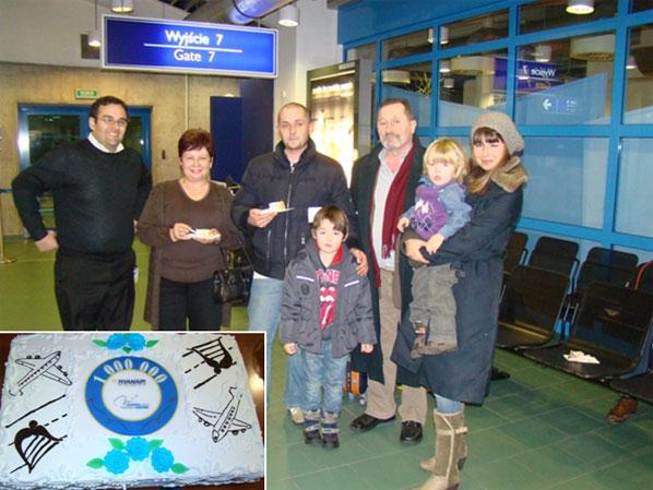 Ryanair celebrated its millionth passenger at Gdansk Lech Walesa Airport