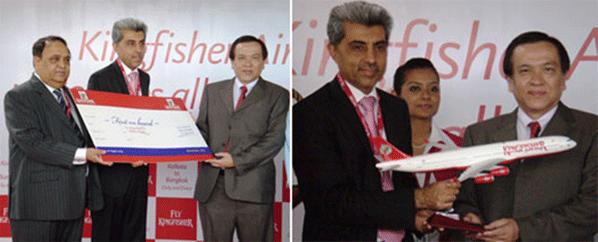 Kingfisher began daily flights to Bangkok from Kolkata in August