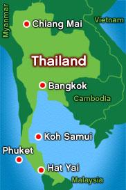 Map: Thailand