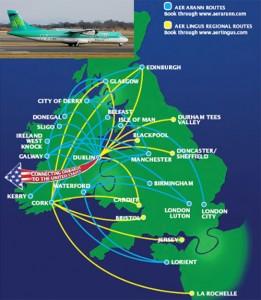 Aer Lingus Regional/Aer Arann Route Map