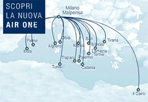 Scopri La Nuova Air One Route map