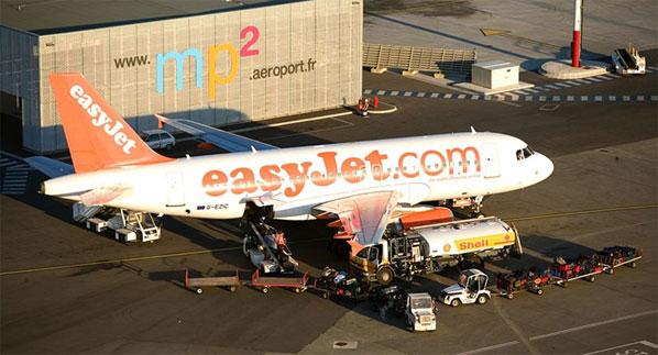 easyJet plane at Mp2