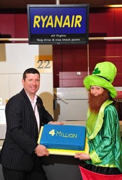Ryanair 4-millionth passenger