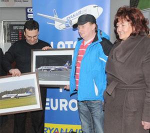 Ryanair millionth passenger in Lodz