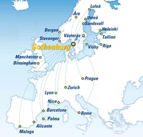 Gothenburg Route Map