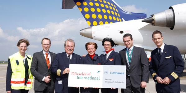 Lufthansa's Eurowings-operated flights between Düsseldorf and Edinburgh