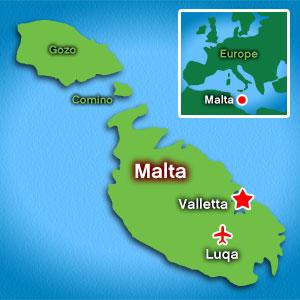 Map: Malta
