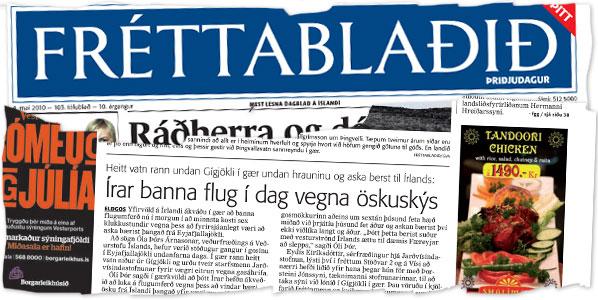 Reykjavík's daily Fréttablaðið