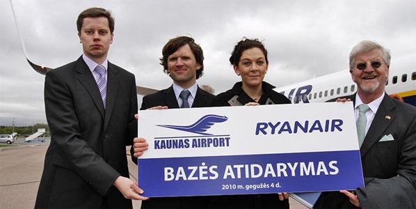 Ryanair Kaunas Airport Base Opening