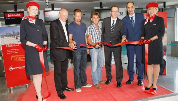airberlin launched two weekly flights between Düsseldorf and Tel Aviv