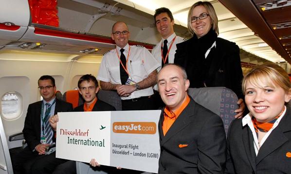 easyJet's new service between London Gatwick and Düsseldorf