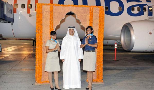 flydubai's first flight to India