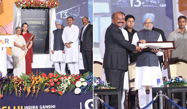 Inauguration of the new Terminal 3 at GMR's Delhi Indira Gandhi International Airport