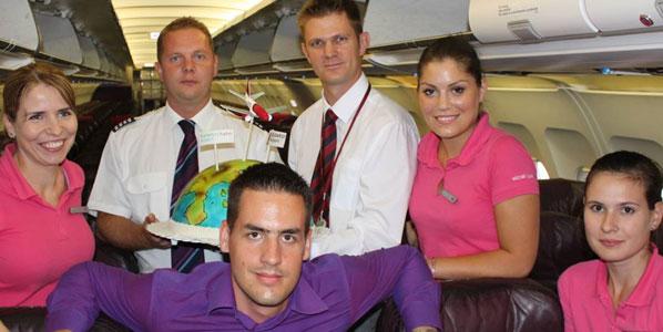 Wizz Air's captain Attila Lukács and Budapest Airport's spokesman Károly Szilágyi