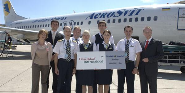 AeroSvit's Kiev-Dűsseldorf launch