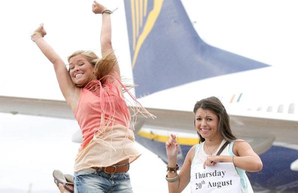 Ryanair gave away free tickets to 100 Northern Irish students