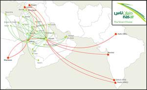 Nas Air Route Map