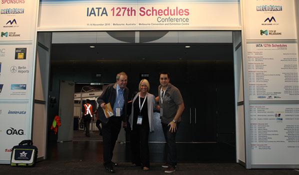 anna.aero's Editor, Ralph Anker, Nicky Eakins, International Sales Executive, and Jon Lassetter, Business Development Manager