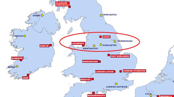 Ryanair Route Map