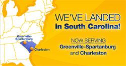 Now Serving Greenvilla-Spartanburg and Charleston