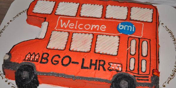 Cake of the Week Vote: Cake 2 bmi's London Heathrow to Bergen