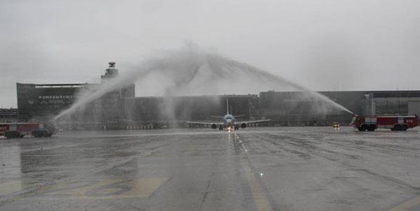 Jetairfly's first flight to Kosovo's capital Pristina