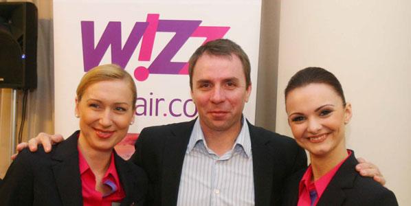 Wizz Air's CEO Jozsef Varadi launches the Vilnius base