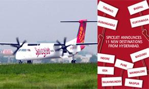 SpiceJet's NextGen routes include seven new destinations as Q400 Hyderabad operations start September