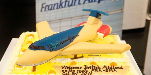 Cake 1: bmi regional's East Midlands to Frankfurt