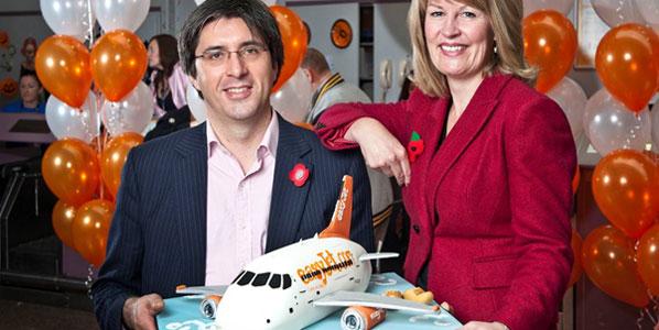 Cake 2 - easyJet's Glasgow to Amsterdam