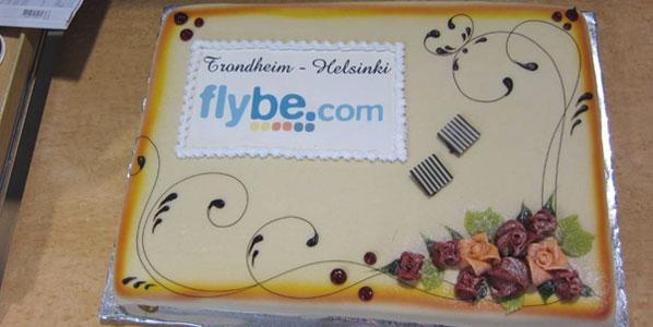 Cake 3 - Flybe's Helsinki to Trondheim