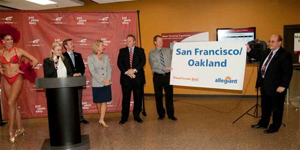 Allegiant's Phoenix Mesa-Oakland service launches in January 2012