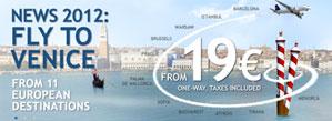 European destinations to Venice fares advert