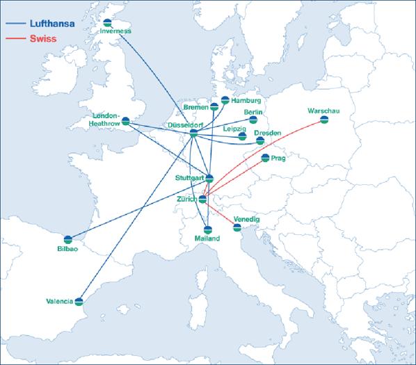 lufthansa transfers six stuttgart routes including london