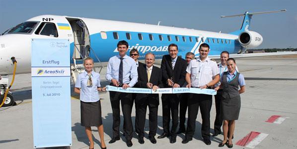 The Ukraine's AeroSvit led the way with +65.6%.